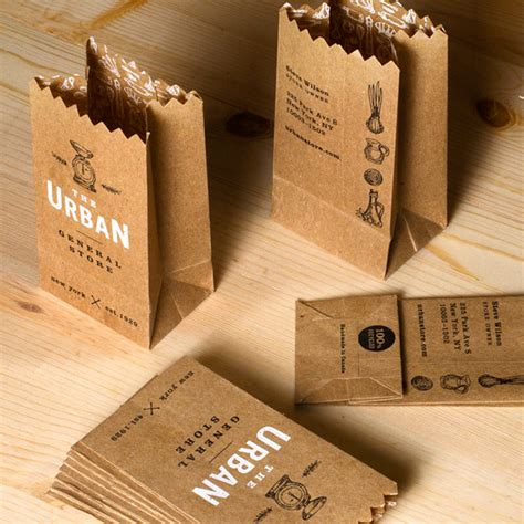 The Handmade Card Company - paper bag business card jukeboxprint