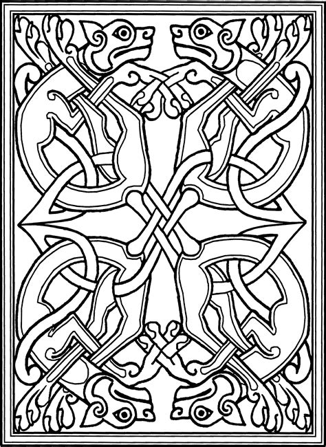 free coloring pages of celtic dragon