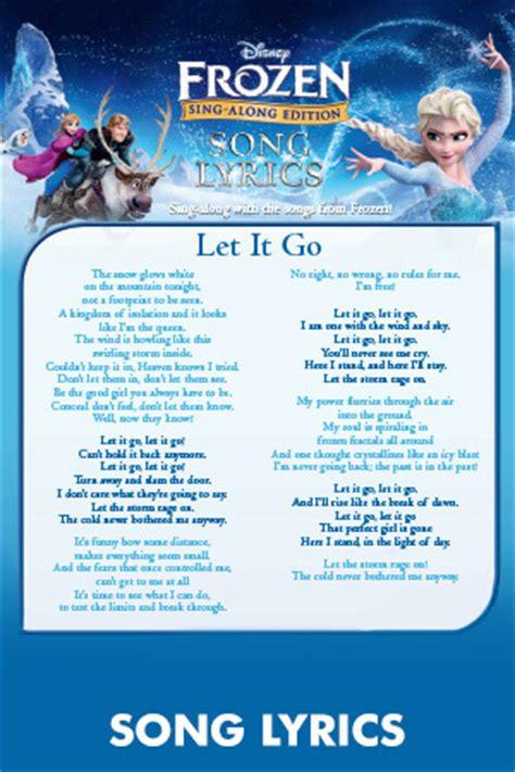 printable lyrics let it go frozen games activities disney frozen