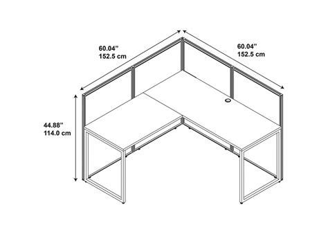 Office Desk Dimensions 60x60 L Shaped Office Workstation Desk