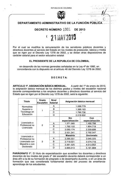 salario 1278 para 2016 salarios docentes 2016 decreto 1278