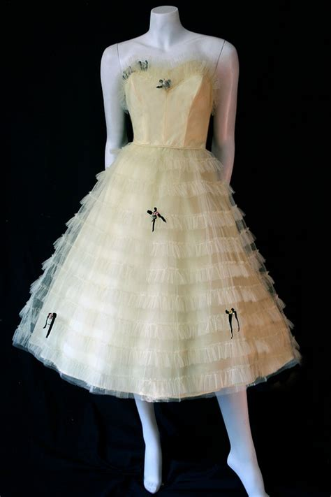 domb 50s tulle prom dress vintage clothing