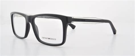 emporio armani ea 3002 5017 black mens eyeglasses size 53