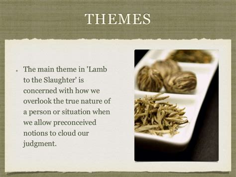 themes in the story lamb to the slaughter a lamb to the slaughter