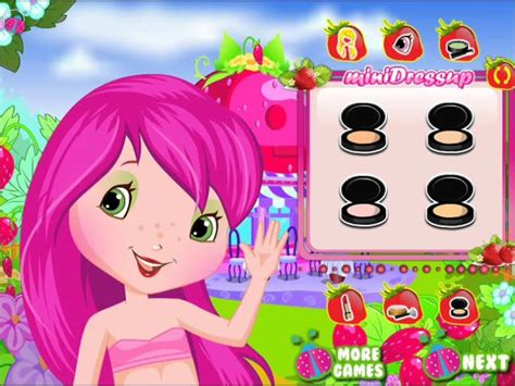 sweet games for girls girl games cute strawberry shortcake dressup gameplay for sweet