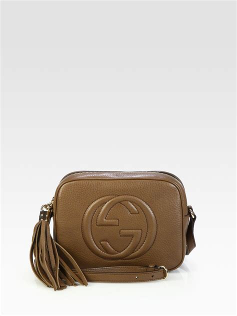 Gucci Color Center Leather Brown gucci soho leather disco bag in brown lyst