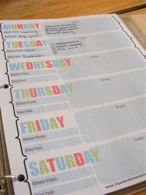 life organizer planner printable free printables to help organize your life weekly