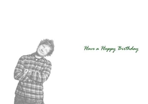 Ed Sheeran Birthday Card Personalised Ed Sheeran Birthday Card Ebay