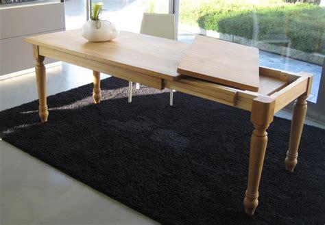 tavolo allungabile in legno massello tavolo allungabile artigianale in legno massello di rovere
