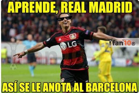 Chions League Memes - la falla chicharito ante el barcelona futbol sapiens