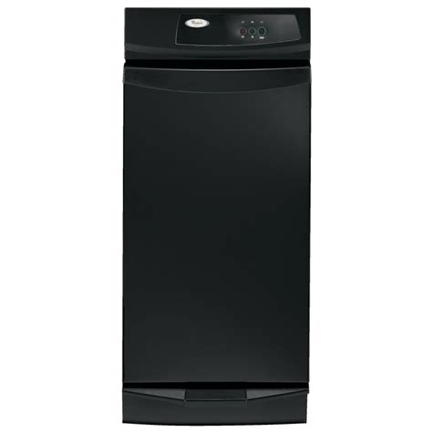 trash compactors for home shop whirlpool gold 15 in black on black undercounter