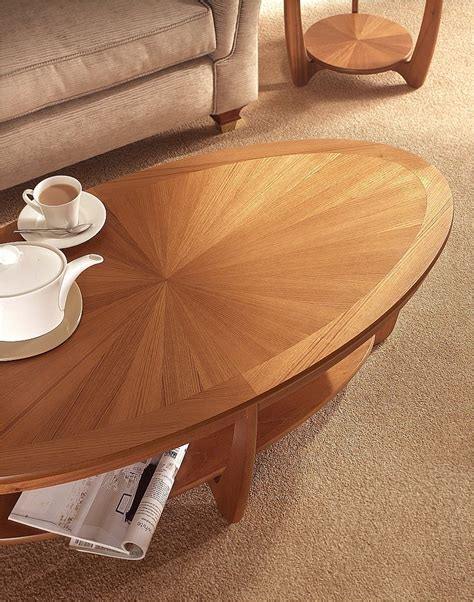 table top l shades nathan shades sunburst top oval coffee table