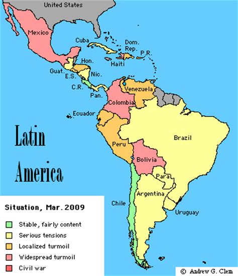 Map Of Latin America Latin America Is Made Up Of Mexico | directory latinamerica maps