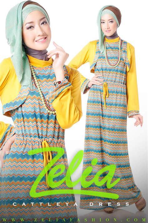 Kaos Muslimah Zahra Lengan Motif cattleya kuning baju muslim gamis modern