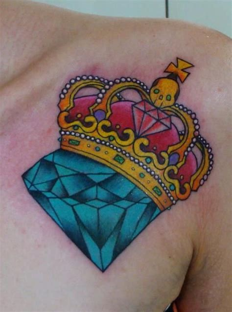 tattoo diamond crown crown diamond tattoo piercings tatoos pinterest