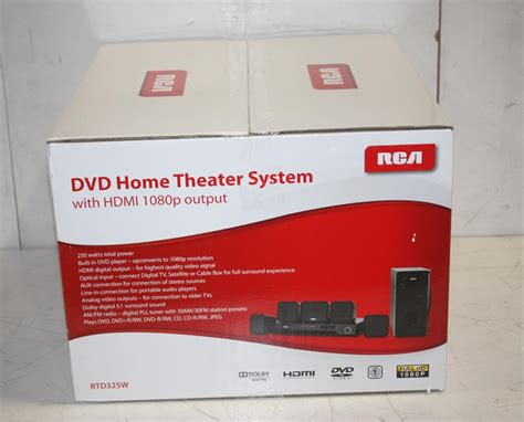 rca rtd325w 5 1 channel home theater system ebay