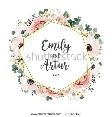 Wedding Card Design Floral by Wedding Invitation Floral Invite Card Design Stock Vector
