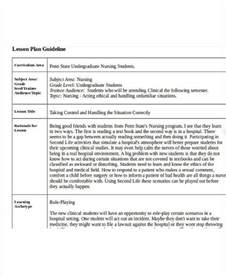 teaching plan template for nurses 40 lesson plan sles free premium templates