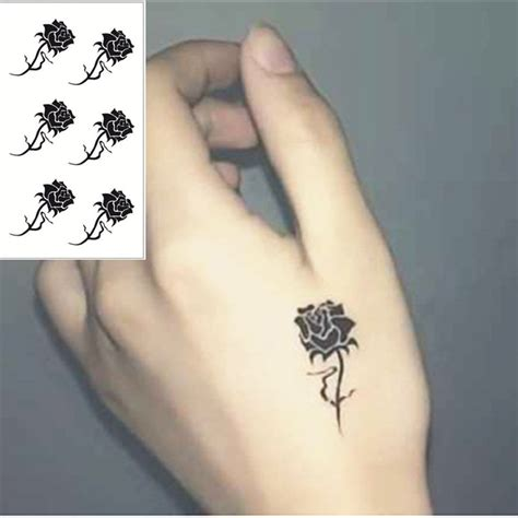 henna tattoo op je hand black flash sticker 10 5 6cm small