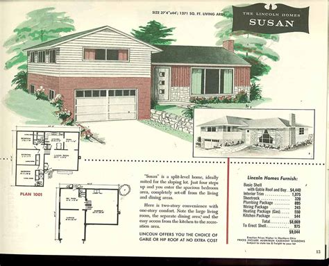 Tri Level House Floor Plans Factory Built Houses 28 Pages Of Lincoln Homes From 1955