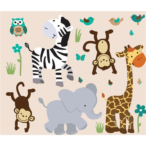 Nursery Animal Wall Decals Animal Wall Decal Vinyl Wall Decals Wall Stickers Nature Animal Wall By Chinstudio With