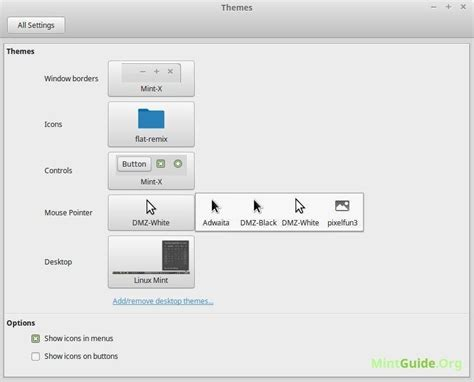 gnome mouse themes install pixelfun3 1 1 the mouse cursor theme on linux mint