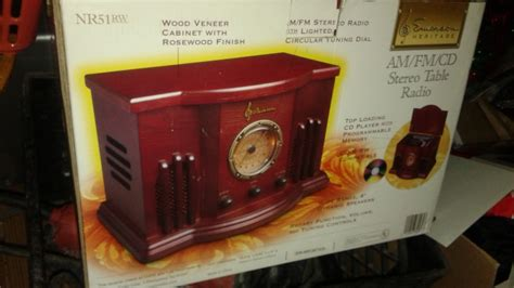 desk radio cd player nr51rw stereo radio classic emerson am fm cd player