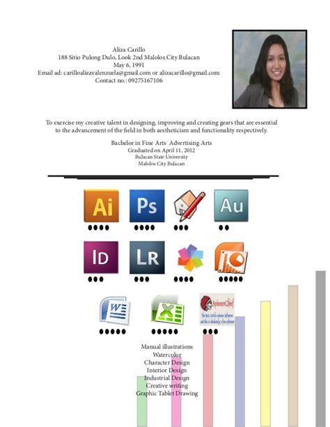 Home Interior Design Courses Resume Of Aliza Carillo A Fresh College Graduate