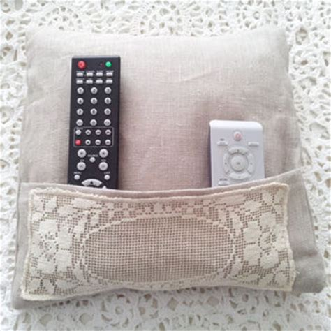 remote holder for bed remote holder pillow pocket pillow from clarashandmade