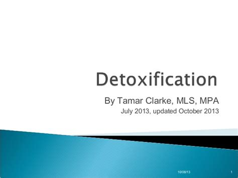 Detox Power Point by Detoxification Presentation 97 To 2003 Format