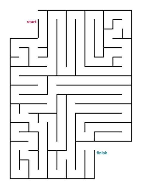 Promo Maze Angka New mazes to print easy cutout mazes