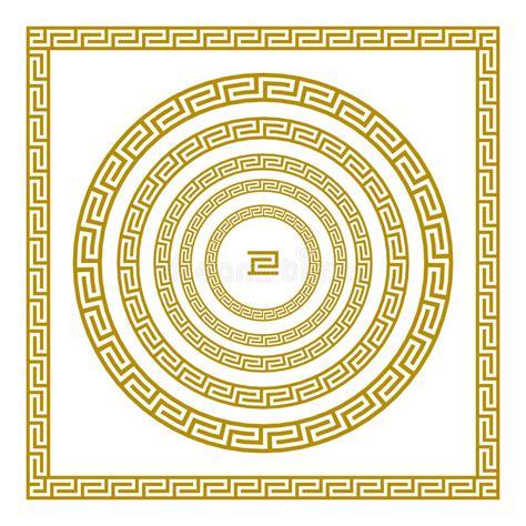 Vintage Poster Motif Kayu 156 vector set traditional vintage golden square and ornament meander border greece gold