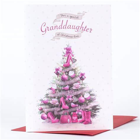 printable christmas cards for granddaughter christmas card special granddaughter only 99p