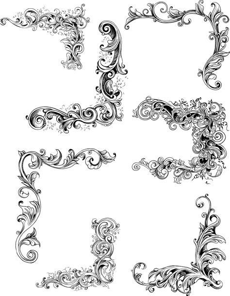 borders design elements vector decorative elements vintage set vector free download