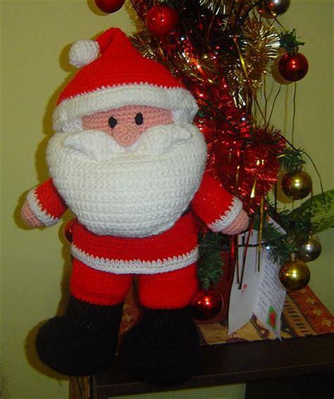 adornos navideos tejidos al crochet papa noel tejido a crochet imagui