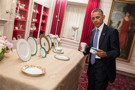 wonderful White House China Patterns #2: president_obama_previews_china_pattern.jpg