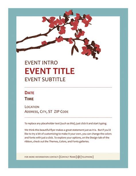event flyer template event flyer office templates