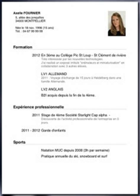 Lettre De Motivation Stage Troisième Collège Resume Format Lettre De Cv 3eme