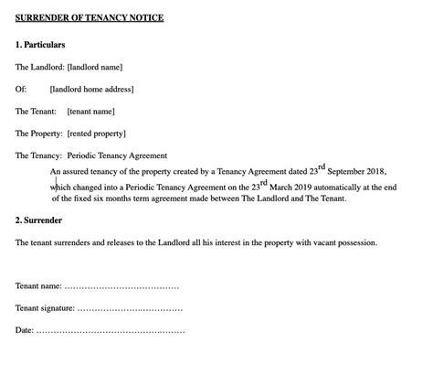 sample notice letter landlord moving