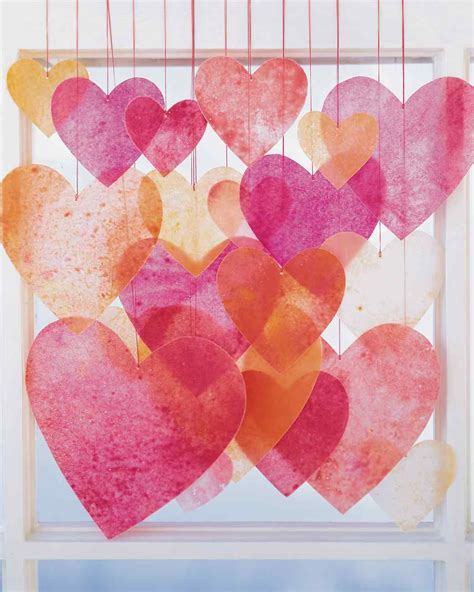 Wax Paper Craft - crayon hearts martha stewart