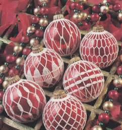 christmas ornament crochet patterns 12 ball by paperbuttercup