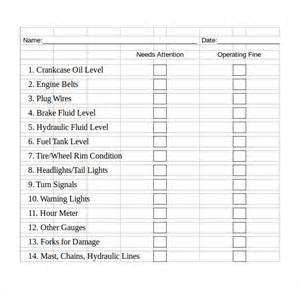 Checklist Template Excel by Excel Checklist Template 6 Free Sles Exles Formats