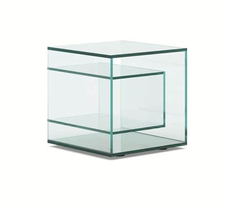 glas nachttisch quadratischer nachttisch aus glas liber e by tonelli