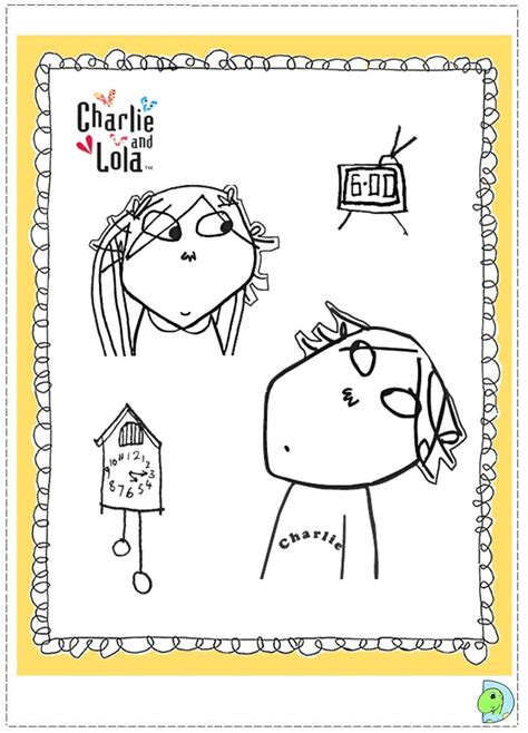 charlie and lola free colouring pages