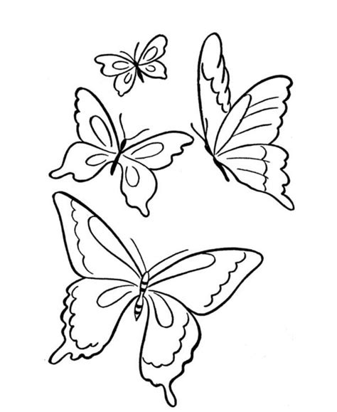 butterfly coloring pages pinterest butterfly four butterflies flying on the park coloring