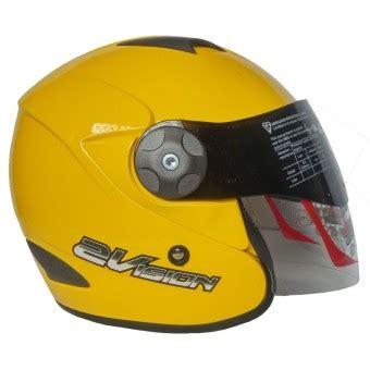Helm Kyt 2 Vision Hitam Kyt Helm 2 Vision Solid Kuning Lazada Indonesia