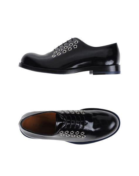 black lace up shoes jil sander lace up shoes in black lyst
