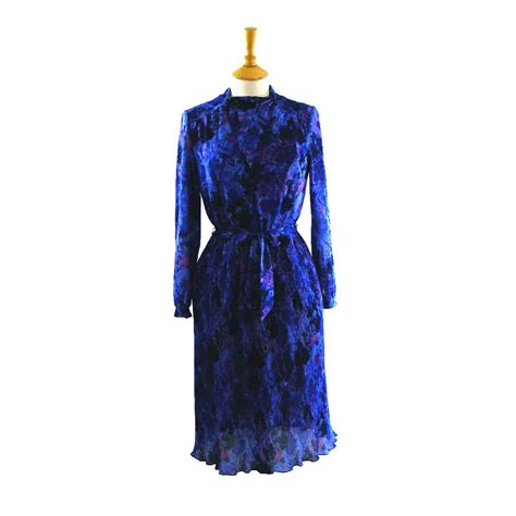 80s floral 80s floral blue dress blue 17 vintage fashion