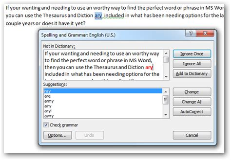 section thesaurus beginner geek use the thesaurus and dictionary in word