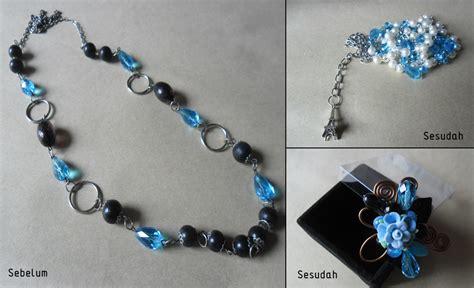 Meronce Manik2 re desain kalung manik manik oleh buko tri lestari surabaya koleksikikie
